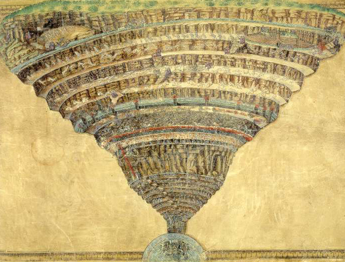 Sandro Botticelli (1445–1510), 'Chart of Hell' (created after Dante's 'Divine Comedy'