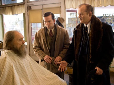 """Robert Duvall, Lucas Black, and Bill Murray appear in a scene from the movie """"Get Low."""""""