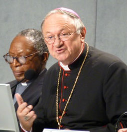 Archbishop Zygmunt Zimowski appears at a Nov. 2012 Vatican press conference.