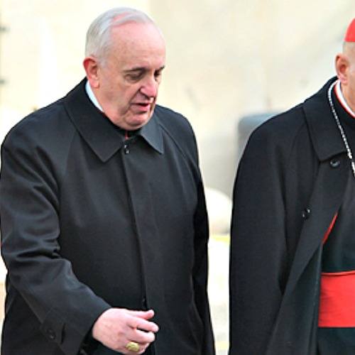 Cardinal Jorge Bergoglio, then archbishop of Buenos Aires, arrives at the Vatican for pre-conclave meetings on March 5, 2013.