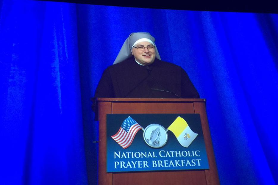 Sister Constance Veit at the May 17 prayer breakfast in Washington.