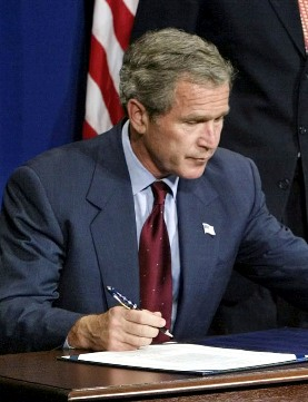 Different Approach. Bush signs the Born Alive Infant Protection Act.