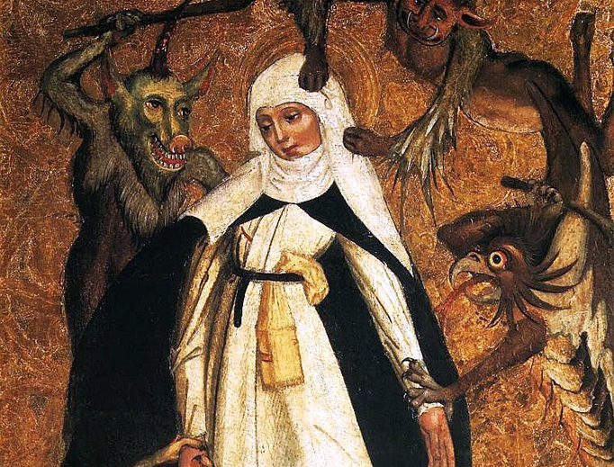 """""""St. Catherine of Siena Besieged by Demons,"""" Anonymous, c. 1500"""