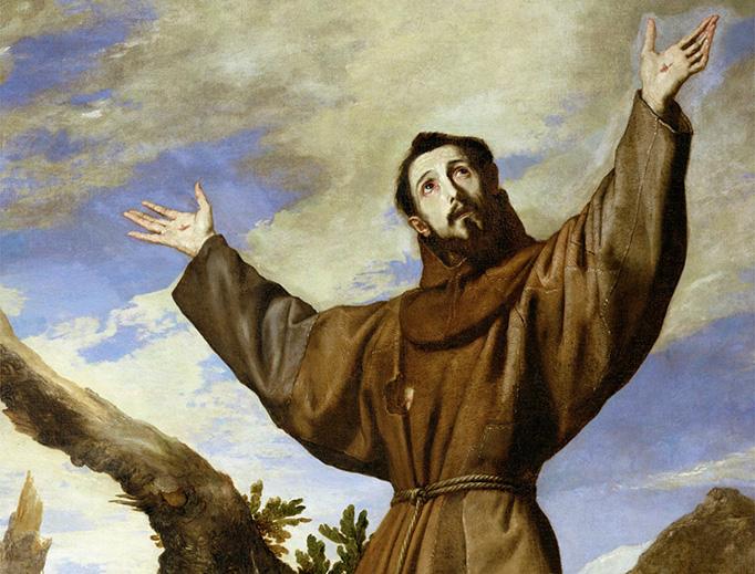"""Jusepe de Ribera, """"St. Francis of Assisi,"""" 1642"""