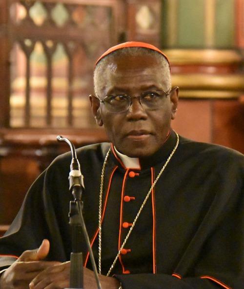 Cardinal Robert Sarah, prefect of the Congregation for Divine Worship and the Discipline of the Sacraments.