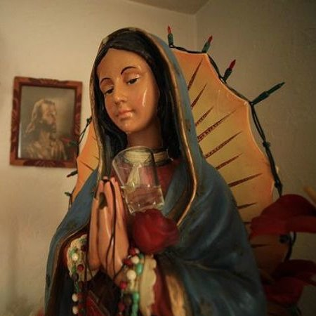 Statue of Our Lady of Guadalupe in Fresno, Calif., that allegedly produces tears.