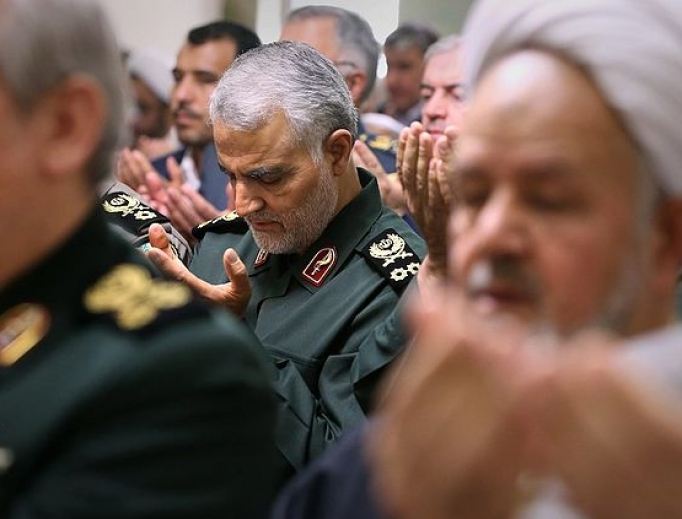 Iran's head of the Islamic Revolutionary Guard Corps-Quds Force, Qasem Soleimani, April, 2016.