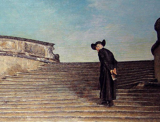"""Giovanni Segantini (1858-1899), """"Frühmesse"""""""