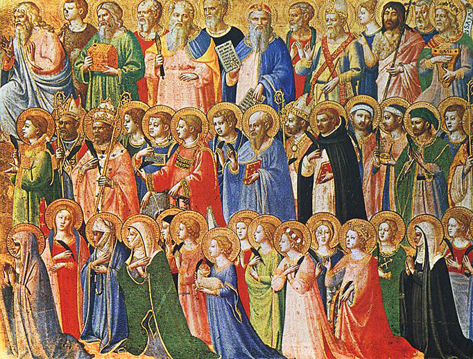 """Fra Angelico, """"The Forerunners of Christ with Saints and Martyrs"""" (c. 1423-24)"""