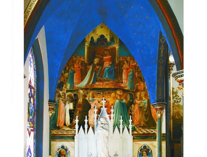Reproductions of the work of the famed 15th-century artist adorn St. Mark's in Peoria, Illinois.