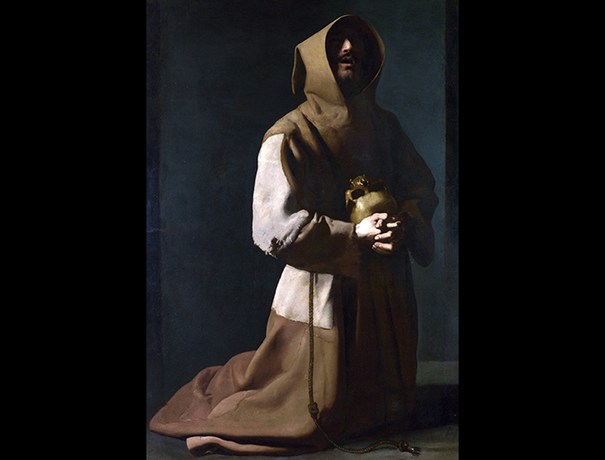 "Francisco de Zurbarán, ""Saint Francis in Meditation"", c. 1637"