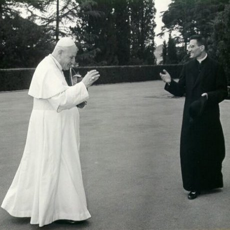 Pope John XXIII with then-Msgr. Loris Capovilla, who died May 26.