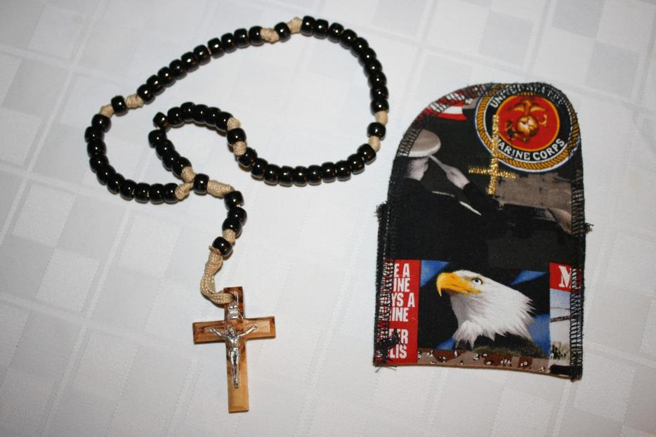 Holy Land Military Rosary and Case