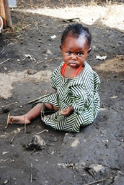 Refugee child at Kanyaruchinya displacement camp in Goma, Democratic Republic of Congo.