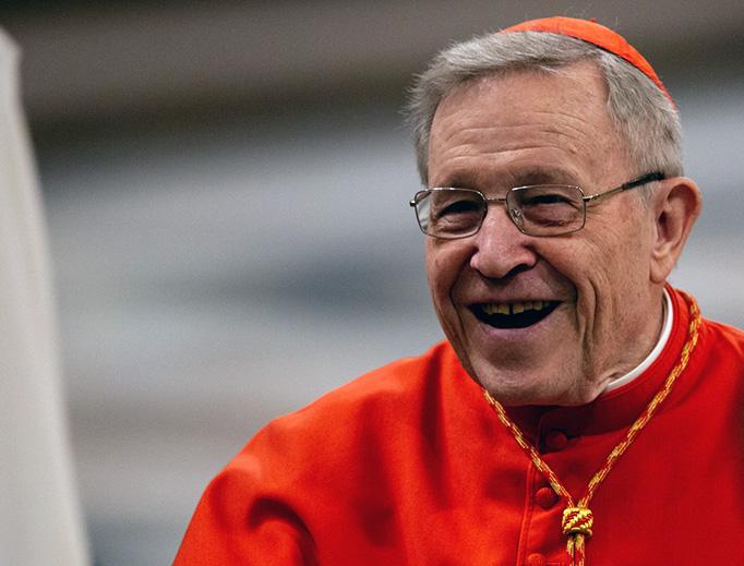 Cardinal Walter Kasper at the Basilica of Saint Paul Outside the Walls on Jan. 18, 2019.