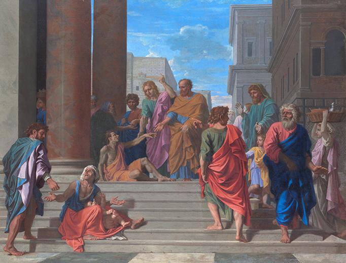"Nicolas Poussin, ""Saints Peter and John Healing the Lame Man"", 1655"
