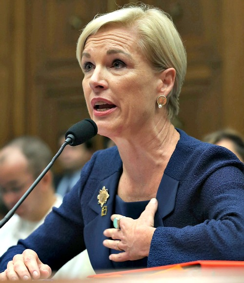 Cecile Richards, president of Planned Parenthood Federation of America Inc. testifies during a House Oversight and Government Reform Committee hearing on Capitol Hill, on Sept. 29.
