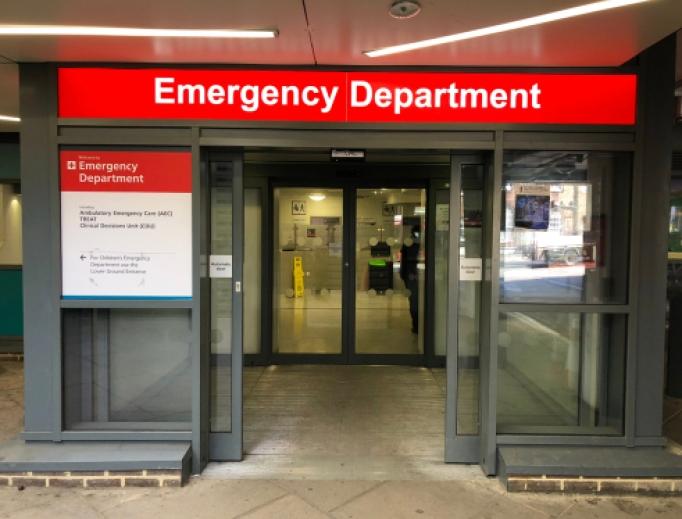 Emergency entrance in London.