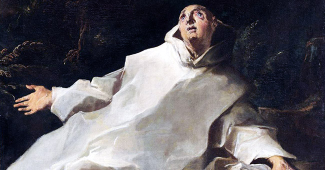 "Louis Cretey, ""The Vision of Saint Bruno"" (late 17th century)"