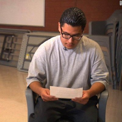 Carlos Adrian Vazquez Jr., now 18, received a touching letter from Pope Francis.