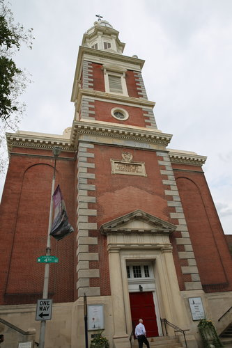 The exterior and interior highlights of St. Augustine Church in Philadelphia.