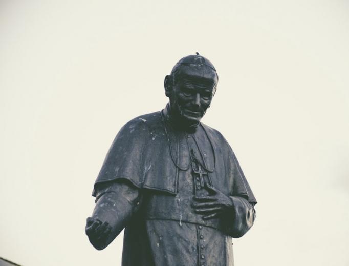 Pope St. John Paul statue