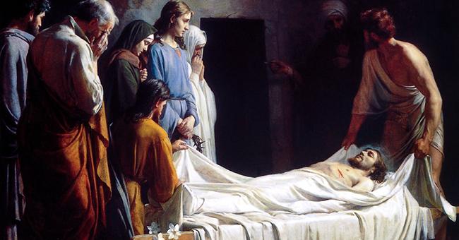 "Carl Heinrich Bloch (1834-1890), ""The Burial of Christ"""