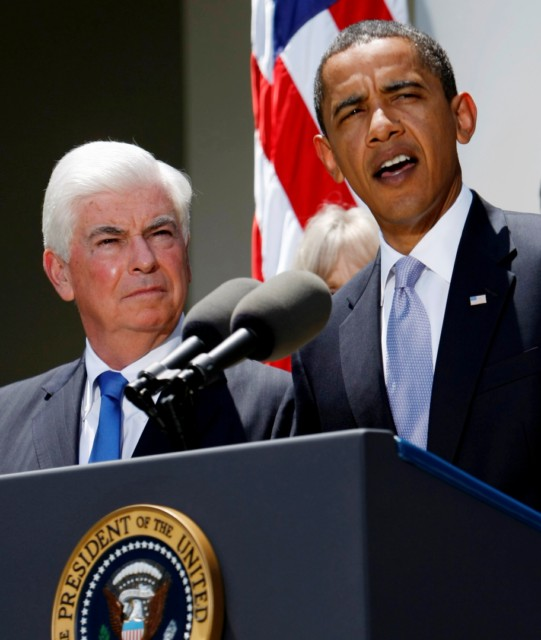 President Obama speaks on health-care reform July 15, alongside Sen. Chris Dodd, D-Conn.