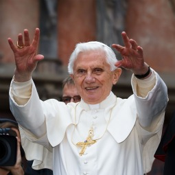 PAPAL WAVE. Pope Benedict XVI greets pilgrims outside the Dom cathedral on Sept. 23 in Erfurt, Germany. The Pope was in Erfurt on the second of a four-day visit to Germany.