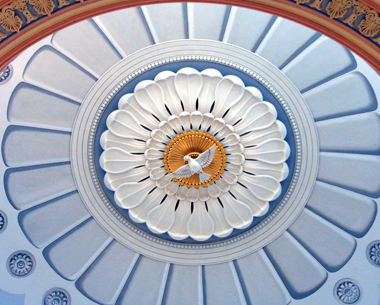 Image of the Holy Spirit dome courtesy of the Basilica Historic Trust