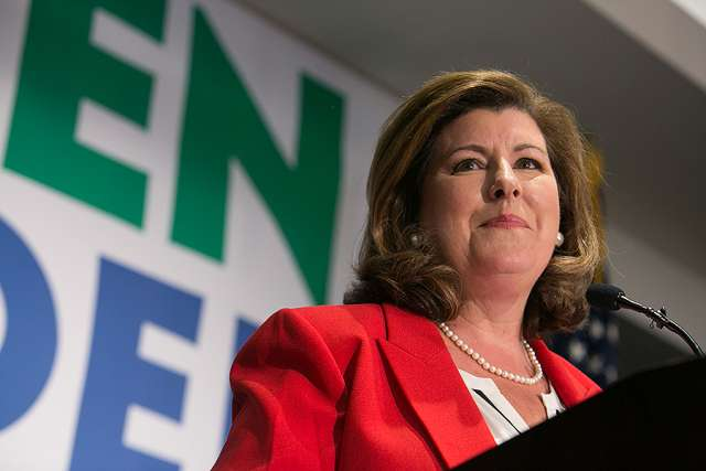 Georgia's 6th Congressional District Republican candidate Karen Handel gives a victory speech June 20 in Atlanta.