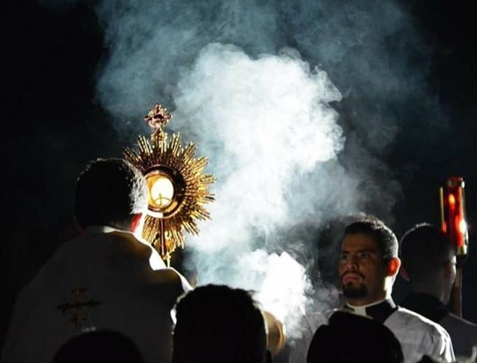 Adoration at Seek 2017 conference in San Antonio, Texas, last week.