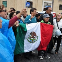 Mexican pilgrims gather at the Vatican in April for the beatification of Pope John Paul II, who visited their country several times. Pope Benedict XVI today announced his first pilgrimage to Mexico and Cuba.
