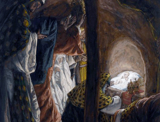 "James Tissot (1836-1902), ""The Adoration of the Magi"""