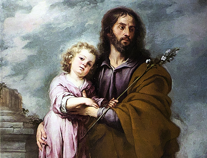 "Bartolomé Esteban Murillo (1617-1682), ""St. Joseph and the Child Jesus"""