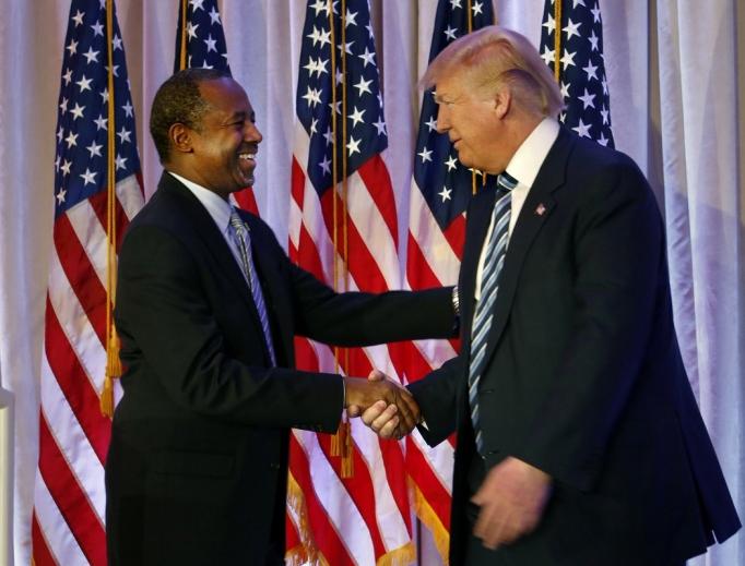 HUD Secretary-elect Ben Carson and President-elect Donald Trump