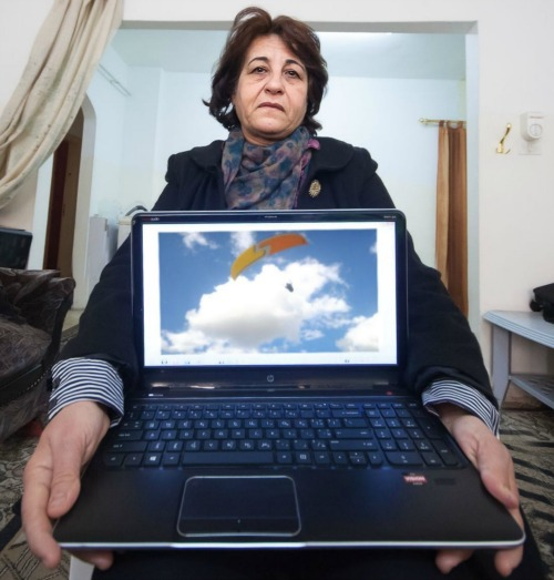 Nawal is a skydiver and professor in women's athletics who was forced into exile by ISIS for not wearing the hijab.