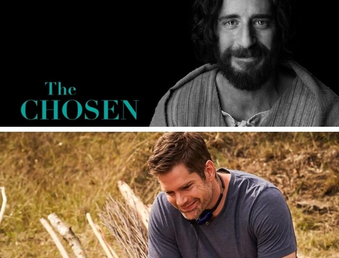 Director-writer Dallas Jenkins (bottom photo) and Catholic actor Jonathan Roumie (top photo) see God's providence in how The Chosen series is unfolding.