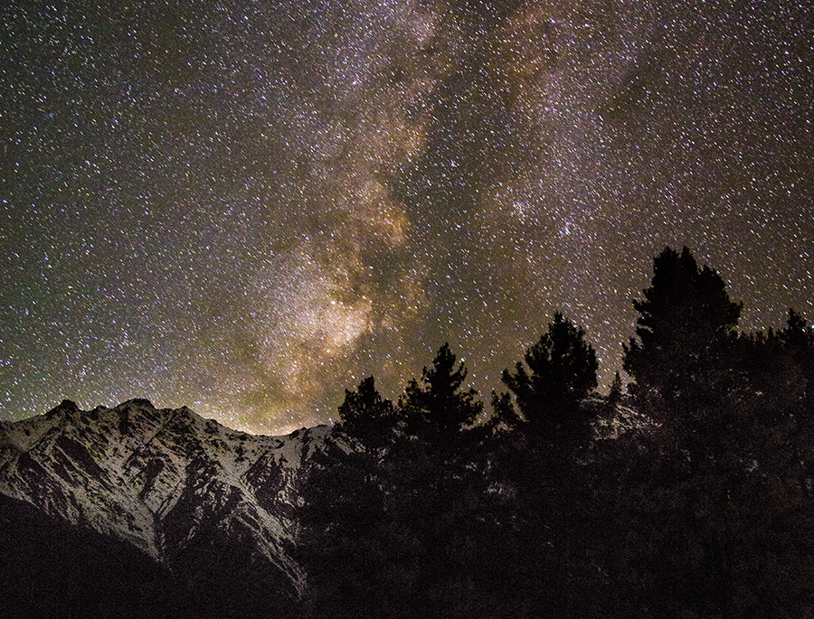 The Milky Way over Nanga Parbat, the ninth-highest mountain in the world.