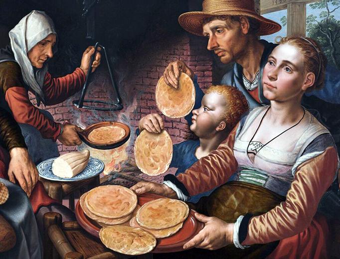"Pieter Aertsen, ""The Pancake Bakery"", 1560."