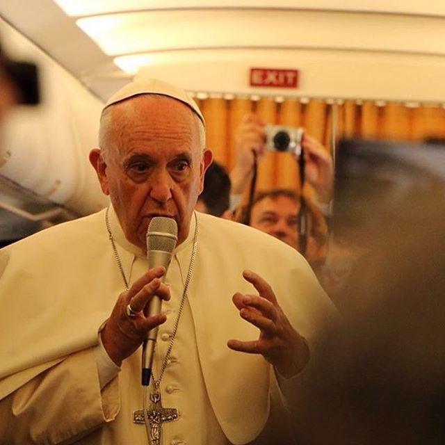 Pope Francis answers questions June 24 en route to Armenia.
