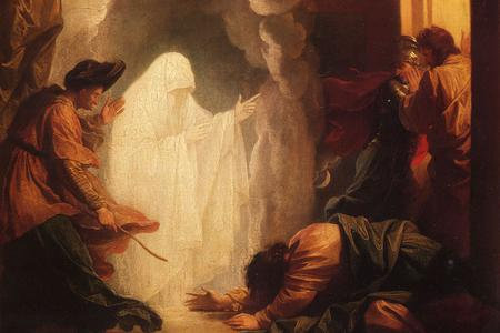 """Benjamin West, """"Saul and the Witch of Endor"""" (1777)"""