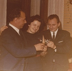 Lt. Gen. Ion Mihai Pacepa (right) months before he defected to the U.S. in 1978.