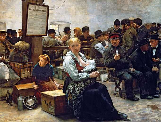 """Charles Frederic Ulrich, """"In the Land of Promise"""", 1884"""