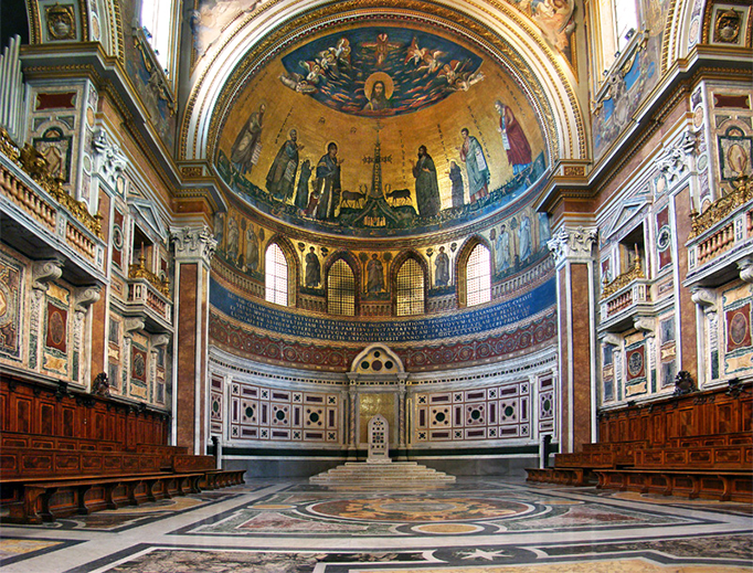 The pope's cathedra in the Basilica of St. John Lateran in Rome