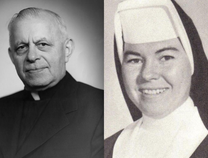 Father George Weinmann and Sister Lilian Marie McLaughlin