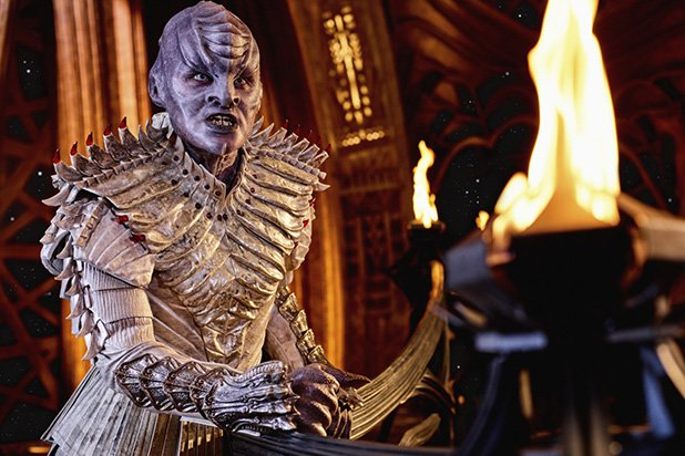 A redesigned Klingon from Star Trek: Discovery