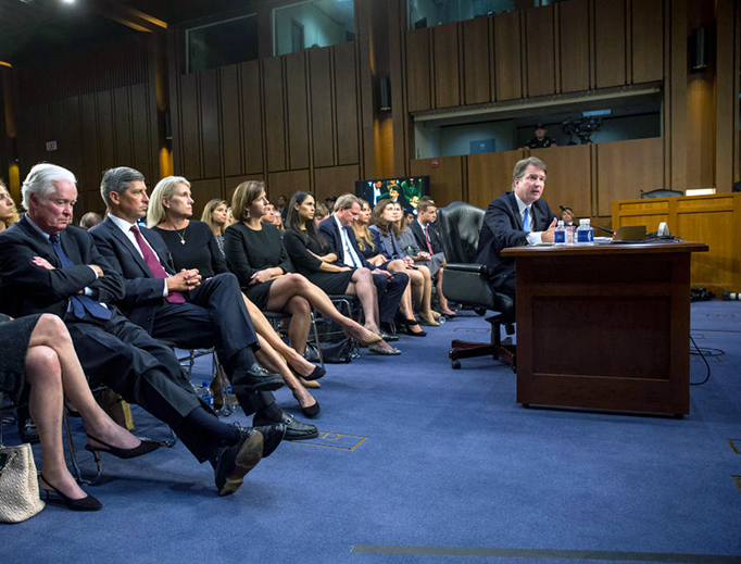Supreme Court Nominee Brett Kavanaugh testifies during the second day of his Supreme Court confirmation hearing on Capitol Hill Sept. 5, 2018 in Washington, DC. Kavanaugh was nominated by President Donald Trump to fill the vacancy on the court left by retiring Associate Justice Anthony Kennedy.