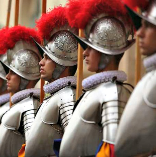 The Swiss Guard swearing-in ceremony on May 6 at St. Damaso Courtyard of the Vatican's apostolic palace.