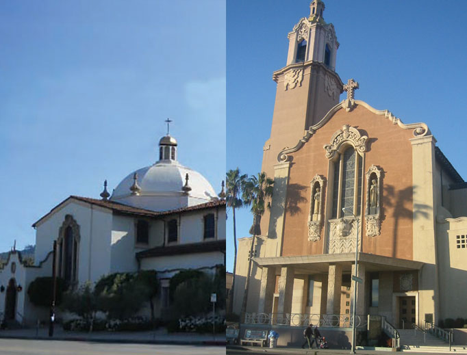 St. Charles Borromeo and Blessed Sacrament are among the churches where Catholic celebrities worship.